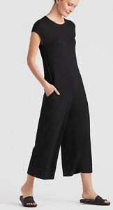 923a5ad28e1 Image is loading EILEEN-FISHER-LIGHTWEIGHT-VISCOSE-JERSEY-CAP-SLEEVE-BLACK-
