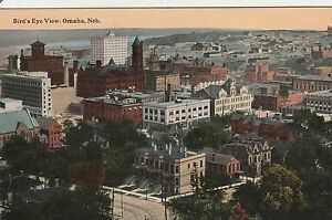 LAM-C-Omaha-NE-Bird-039-s-Eye-View-of-Omaha-Nebraska-Business-District