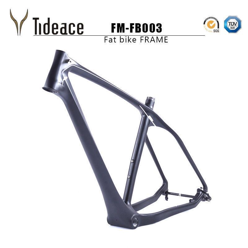 26ER Fibra de Carbono Bicicleta De Grasa Marcos T800 Original Equipment Manufacturer Marco de bicicleta Bicicleta De Nieve Negro unidireccional