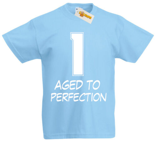 1 Aged Perfection T-Shirt 1st Birthday Gifts Presents for 1 Year Old Boys Girls