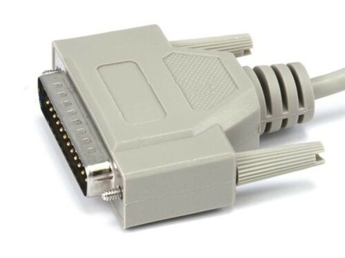 3ft IEEE-1284 Serial RS232 25pin DB25 DB 25 Male to Male M//M Molded Cable