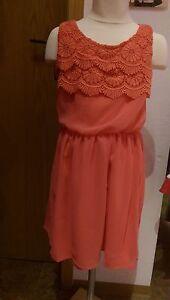 Mayoral festliches Kleid koralle Gr. 128 140 152 Neu | eBay