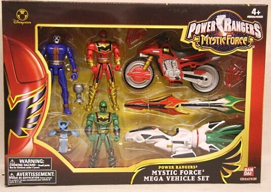 Power Rangers Mystic Force Mega Vehicle Set with Blau Space Alien Kryobot (MISB)