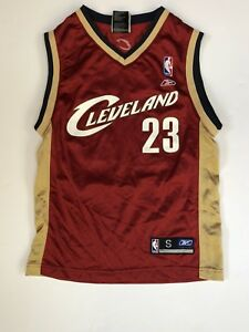 Details about Youth Small Size 8 Reebok NBA Athletics Cleveland Lebron James Jersey 23