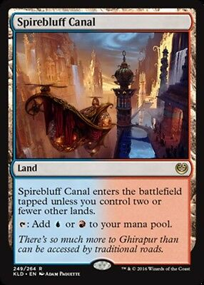 Spirebluff Canal x4 Magic the Gathering 4x Kaladesh mtg card lot