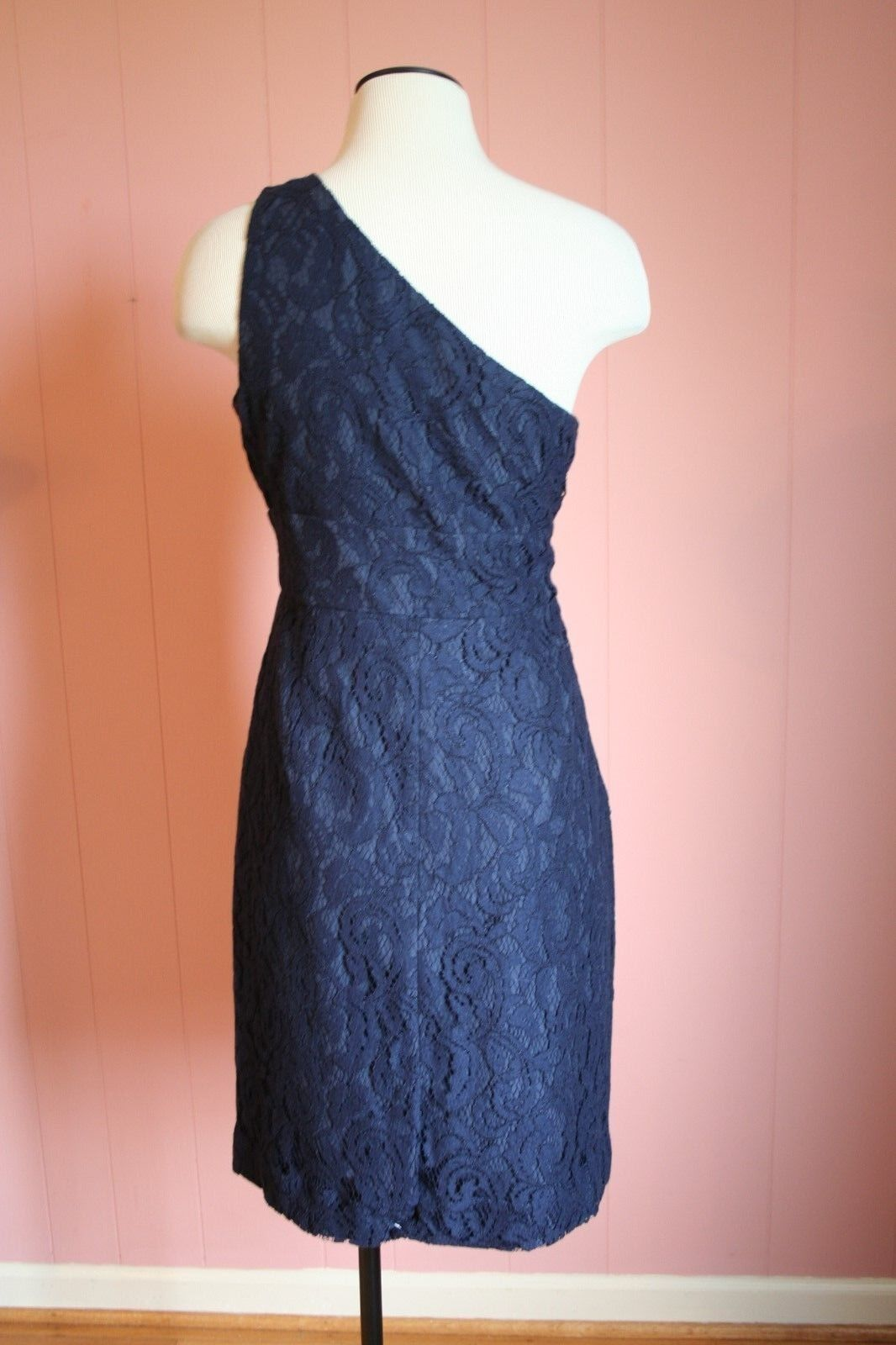 J Crew Alexa Dress in in in Leavers Lace 8 Navy  275 a9024 NWT afbeb7