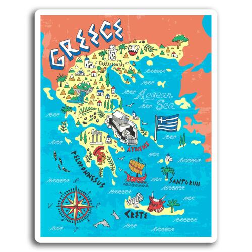 2 x 10cm Greece Santorini Crete Vinyl Stickers Sticker Laptop Luggage #19440