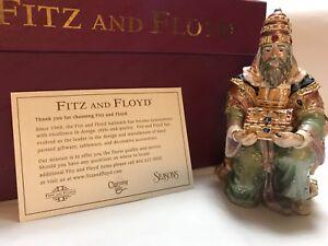 Fitz-amp-Floyd-Treasures-Wiseman-Babylonian-Pewter-Enamel-24k-gold-jeweled-NIB-NEW