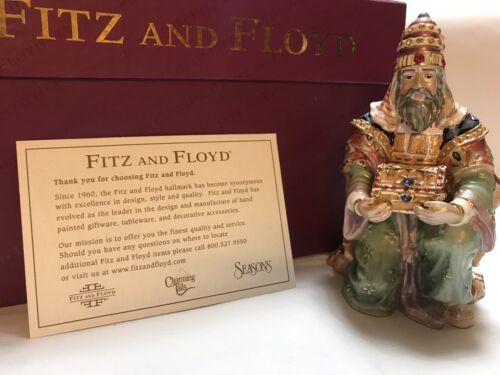 Fitz /&Floyd Nativity Treasures Wiseman Babylonian Pewter Enamel 24k gold Jeweled