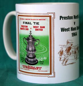 100% De Qualité Preston/west Ham 1964 Finale De La Coupe Vintage Programme Football Mug. Neuf. Entièrement Neuf Dans Sa Boîte-afficher Le Titre D'origine