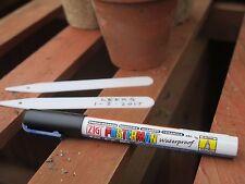 Waterproof Chalkboard Mirror Ceramic Pen Plant Label Marker. Black Extra Fine