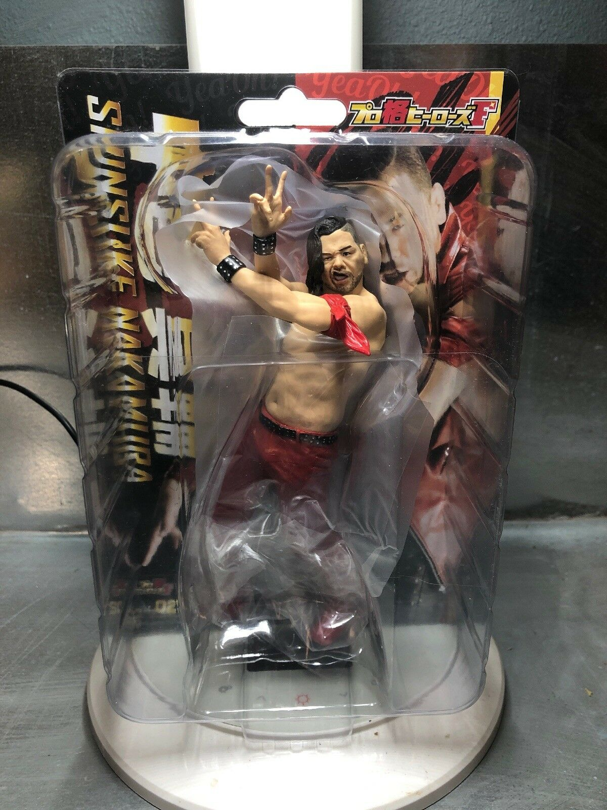 Shinsuke Nakamura Figure Doll Toy New JAPAN Pro Wrestling WWE IWGP MMA Rare rot