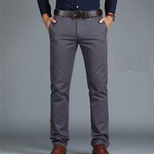 Pantalones Casuales Para Hombres Elegantes Pantalon De Moda Ropa De Estilo New Ebay