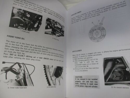 Motorcycle Parts New Suzuki 1977 RM370 owners manual RM370B Auto ...