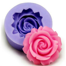 Silicone Kitchen Rose Flower Fondant Cake Chocolate Sugarcraft Pastry Tool New