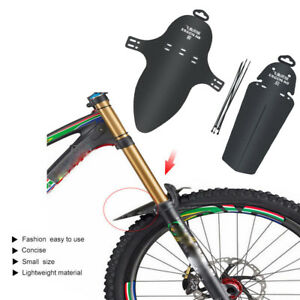 1-Set-Cycling-MTB-Mountain-Bicycle-Front-Rear-Mud-Guards-Mudguard-Fender-Black