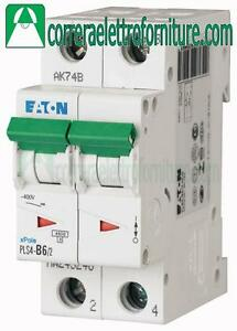 Interruttore magnetotermico 2P 6A 2 moduli 4,5KA EATON 243272