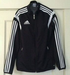 e7c2a4507 adidas Black with 3 White Stripes on Sleeves Track Jacket Youth size ...