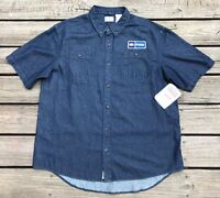 C.e. Schmidt Workwear Ford Denim Auto Shop Garage Shirt Men's Xl W/ Tags