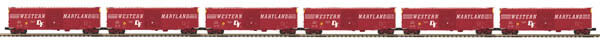 MTH Premier W. Maryland 6 Car Set 50' PS-1 Box Car w' Youngstown Doors 20-90705