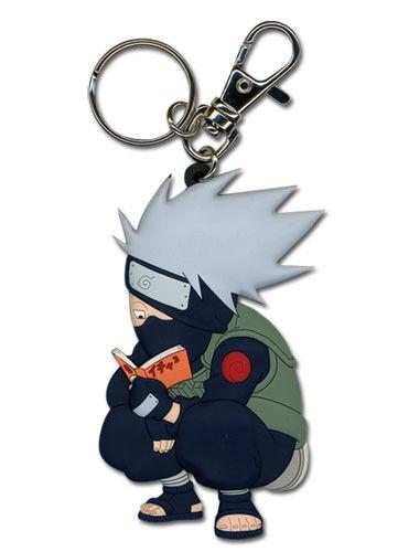 **Legit** Naruto Shippuden Authentic PVC Keychain Kakashi Reading Paradise #3573