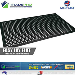 Industrial Rubber Non Slip Mat 1524mm x 914mm 12mm Thick PRO Cargo Quality Ute