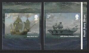 Grande-Bretagne-2019-Royal-Marine-Expedie-Adhesif-Livret-Paire-U-M-MNH