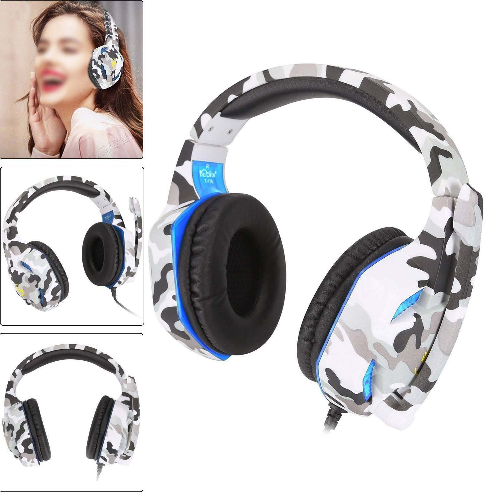 3.5mm K17 Gaming Headset MIC LED Headphones for PC Laptop PS4 Pro Xbox One S 360