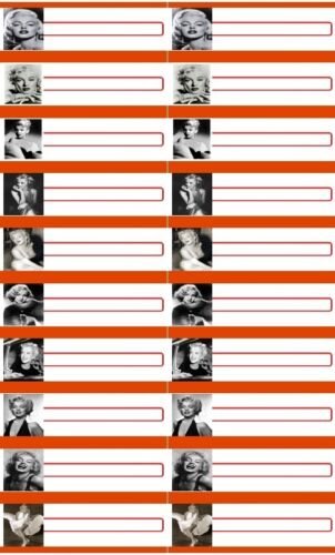 60 Titelstreifen Marilyn Monroe Wurlitzer Seeburg Rockola Ami Jukebox
