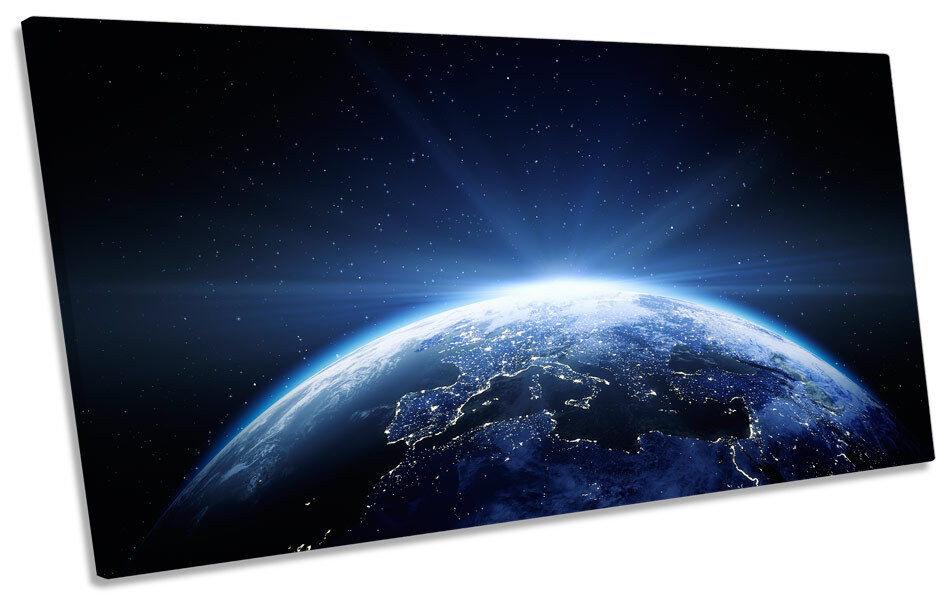 Planet EKunsth Space Astronomy CANVAS Kunst Drucken Panoramic Bild