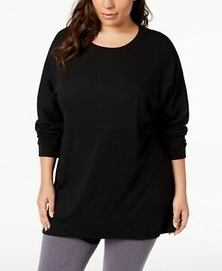 Soffe-Womens-Curves-Size-Plus-Long-Sleeve-T-Shirt-Black-Size-3X