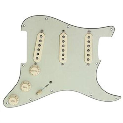 Fender Custom Shop Texas Special Pickup Loaded Strat Pickguard Cream// Mint Green