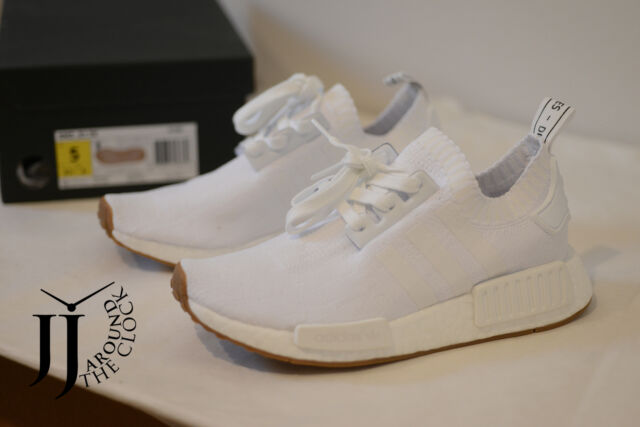 21982f48c NEW ADIDAS ORIGINALS NMD R1 PK PRIMEKNIT WHITE GUM PACK SNEAKERS BY1888 5 US