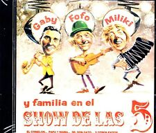 GABY , FOFO Y MILIKI - Y FAMILIA EN EL SHOW  DE LAS  5 - CD