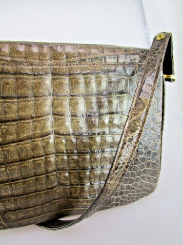 07 Handtasche Vintage Tk3v Krokoledertasche Croco Echte Krokotasche Aus Z70qxwv6