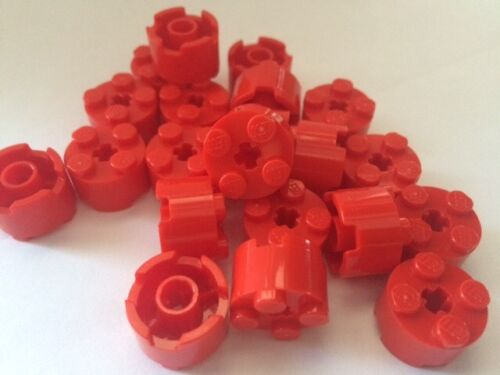 Lego 2X2 Round Red With Hole 2 X 2 Bricks Special lot of 10