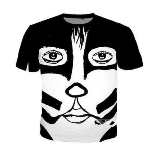 2019 Hot Women//men KISS funny 3D print Short Sleeve Casual Tops T-Shirt S-5XL T1