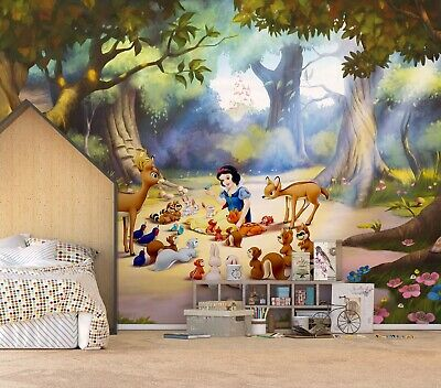 Disney Wall Mural Photo Wallpaper Children's Bedroom Snow White Premium Brown Warme Lof Van Klanten Winnen