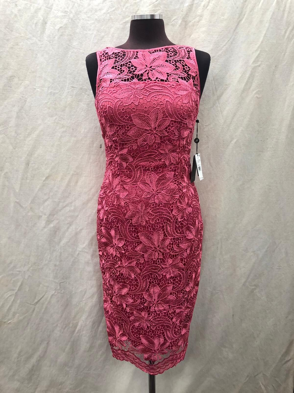 ADRIANNA PAPELL DRESS SIZE 6 RETAIL LENGTH 42  NEW WITH TAG MIST pink