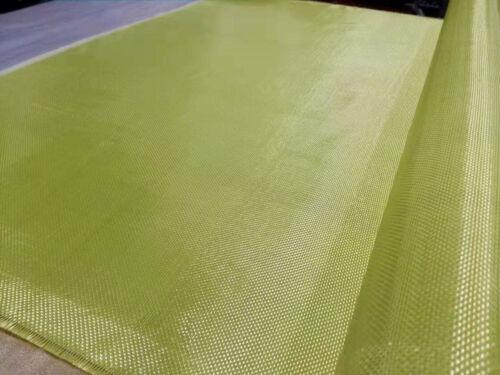 "High Aero Quality Aramid Fabric Fiber Cloth Plain Yellow 40/""//100cm width 135gsm"