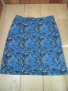 EAST-PAISLEY-NEEDLECORD-CORD-CORDUROY-SKIRT-UK-12-BNWT-BLUE-BLACK-GREEN-WHITE