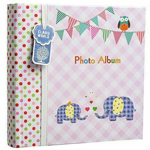 Arpan 6x4 Small Slip In Case Photo Album for 100 Photos Various Design /& Colurs Pink