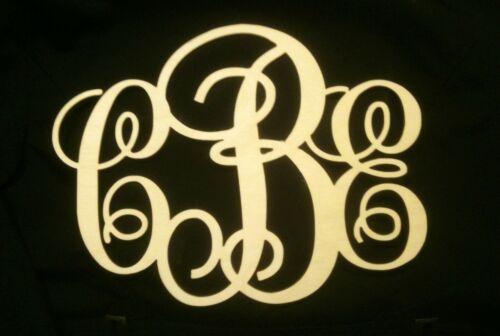"""32/"""" Wooden Vine Monogram Unfinished Letters Room Decor 32 inch long MDF"""