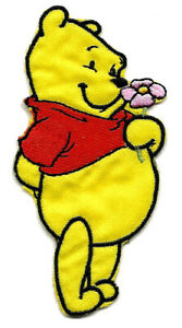 Winnie Pooh Bear Embroidered Iron On Patch