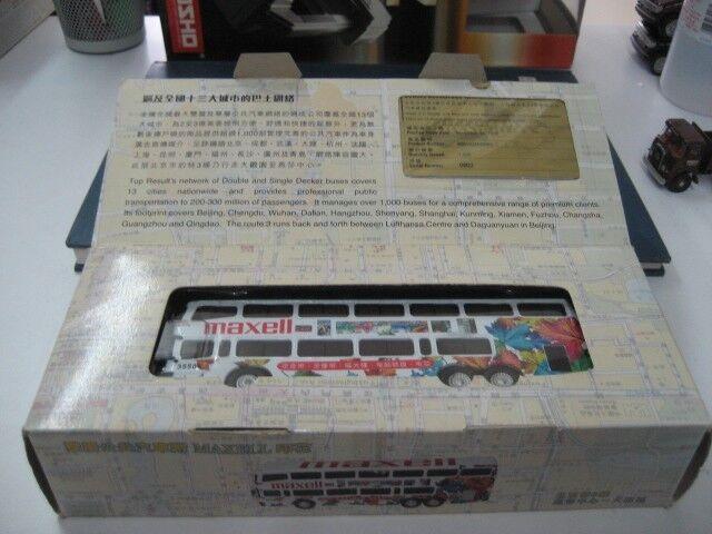 alta calidad Jinling BEIJING Doble Decker Autobús De Ciudad Maxell Maxell Maxell Coche Modelo 1 76 Envío Gratuito  tienda de venta