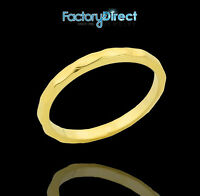 Gold Hammered Knuckle Ring Size 1, 2, 3, 4, 5, 6, 7, 8