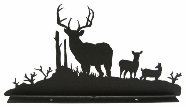 Buck Deer Caixa De Correio Topper Decoração Vista lateral