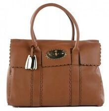 EUC Authentic Mulberry Bayswater Cookie Scalloped Leather Bag in Oak Ret. $1200+