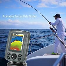 Phiradar FF688C  Sonar Boat Fish Finder Audible Fish&Depth Alarm Transduce K8U9