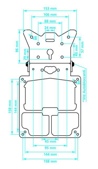 Universal CNC Motorrad Einstellbarer Winkel Aluminium